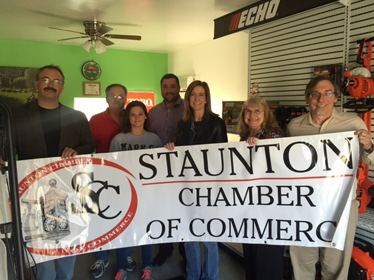 Ribbon Cutting at Mark\'s Lawnmower Shop - Staunton Chamber Events